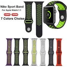 online buy whole nike mens sports watch from nike mens watchband silicone sports watch strap for apple nike bands 38mm 42mm 1 1 original men