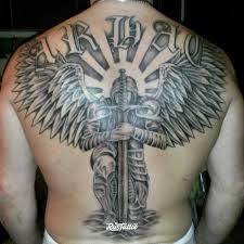 фото татуировки архангел в стиле авторский славянский черно белые