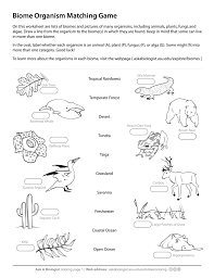 Small Picture Ask A Biologist Biome Matching Game New Coloring Page diaetme