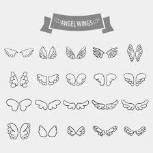 天使の羽根翼アイコンのイラストaieps ベクタークラブ