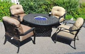 fire pit table set elisabeth propane