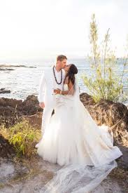 Couples Photos Hawaiian Wedding Couple On Bluff Inside Weddings