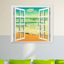 Artificial Window Ocean View Pag 3d Artificial Window Wall Decals Seabeach Room