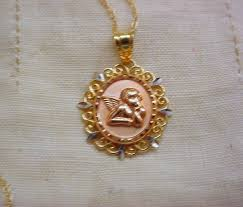 gold angel pendant necklace