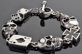 leather motorcycle biker bracelets