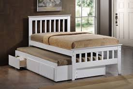 maya white single captain bed