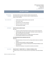 Sample Resume Teacher No Experience Resume Cover Letter Security Job