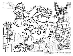 Small Picture Super Mario Coloring Pages Coloring pages for Kids 33 Free