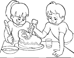 Small Picture The Child Make A Cake Chocolate Coloring Page Chocolate