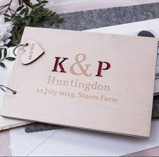 Sign Book For Wedding Us 15 29 15 Off Custom Wedding Guest Book Personalized Initial Guestbook Wedding Guestbook Wooden Sign Book Engraved Guest Book In Signature