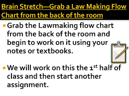 Law Making Flow Chart Brain Stretch Grab One From The Back Of The Room Ppt Download