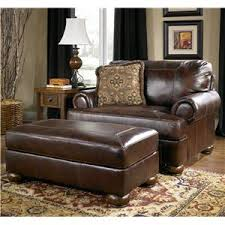 furniture chairs. Traditional Upholstered Chair-and-a-Half And Ottoman With Bun Wood Feet Furniture Chairs