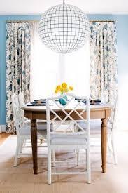 light blue dining room