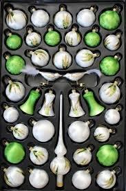 Christbaumschmuck Sortimentskasten Eislack Weiß Kiwi 39 Tlg