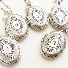 custom double sided locket necklace initial locket necklace bridesmaid jewelry set of 5 necklaces by sora designs custommade com