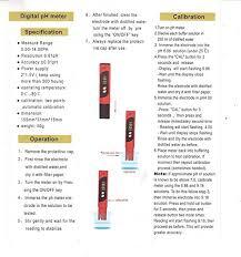 Ph Meter Calibration Mcp Ph 02 Pocket Digital Ph Meter With Auto Calibration Amazon In
