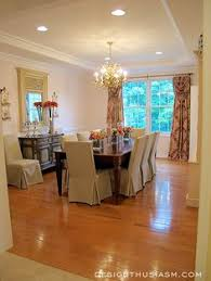 a rosy dining room no rug under table love it
