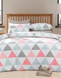 triangle geometric duvet cover set home essentials