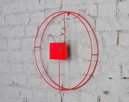 contemporary wall clocks red  oversized contemporary wall clocks