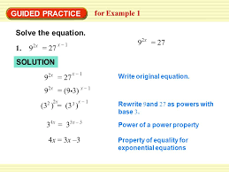 guided practice for example 1 solve the equation 1