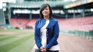 Red Soxs Raquel Ferreira Breaks Through Baseballs Glass