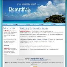 Beautiful Beach Template Free Website Templates In Css Html Js