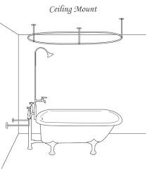 diy clawfoot tub shower. various ways to install shower-ness into clawfoot tub diy shower