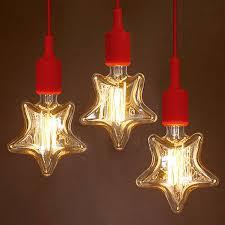 e27 40w incandescent bulbs warm white star shape decorative led edison style light bulb ac 220v