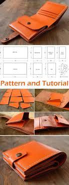 genuine leather wallet tutorial diy