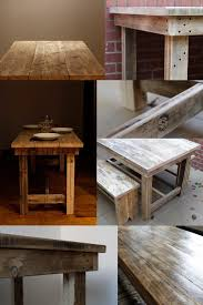 recycled furniture diy. solid reclaimed timber dining table or office desk diy design idea recycled furniture diy t