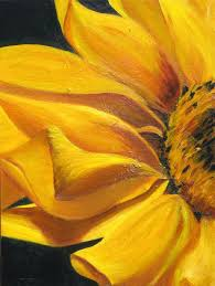 large flower painting large flower painting sunflower print on canvas yellow sunflower with black background title large flower painting