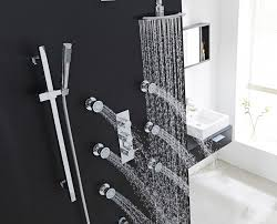 round thermostatic mixer shower