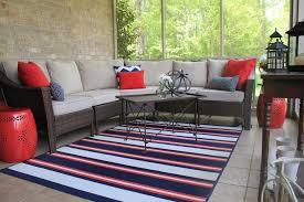 best stripe indoor outdoor rug with patio furniture
