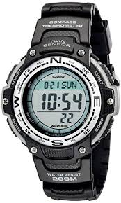 Casio <b>Men's</b> SGW100-1V Twin <b>Sensor</b> Digital Black <b>Watch</b>