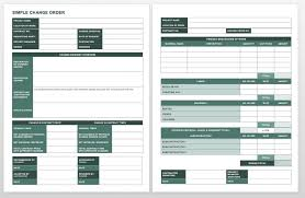 contractor forms templates complete collection of free change order forms smartsheet