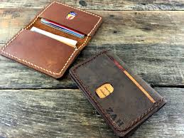 mens leather wallet minimalist slim wallet card wallet thin wallet leather wallet