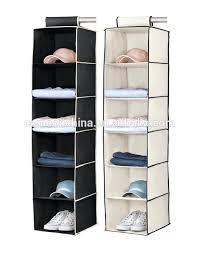 2 pack black cream 6 shelf hanging closet organizer mainstays clothes