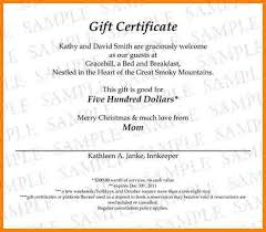 Gift Certificates Samples Awesome Gift Certificate Wording Metalrus
