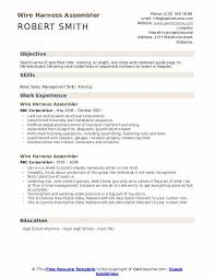 Osha requires that a qualified or. Wire Harness Assembler Resume Samples Qwikresume