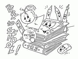 Small Picture Back to School Supplies coloring page for kids school coloring
