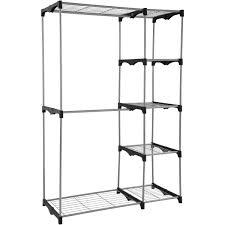 mainstays wire shelf closet organizer 2 tier easy to assemble com