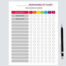 Family Responsibility Office Payment Chart Printable Kids Activities Chore Chart Behavior Chart For Ki
