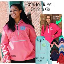 Charles River Pack N Go Size Chart Monogrammed Charles River Pack N Go Unlined Pullover Wind Jacket 1 Or 2 Monograms Free Ship