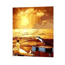 beautiful sunset lady paint by number canvas art paint by numbers oil on canvaspaint by numbers