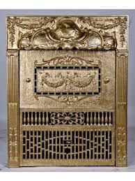 antique ornamental cast iron gas fireplace insert save