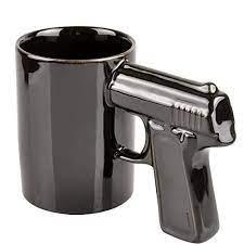 Our gunsmoke ceramic coffee mugs come in two sizes (11 oz. Gun Handle Coffee Mug Ceramic Novelties Tea Cup Black Walmart Com Walmart Com