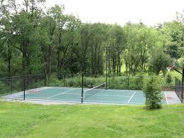 Backyard Basketball Court Build  YouTubeBackyard Tennis Court Cost