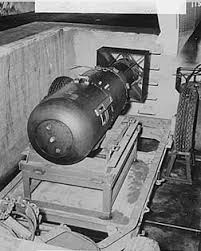 nuclear weapons hiroshima little boy atomic bomb in aircraft loading pit