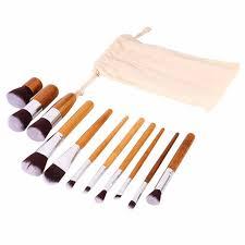 pro 11pcs wood makeup brushes set cosmetic eyeshadow face powder foundation concealer blush make up brush
