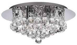 hanna 4 light round crystals chrome